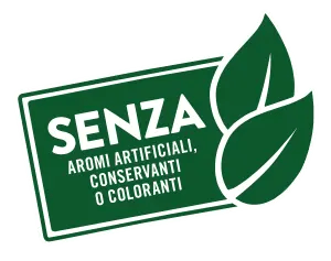 Senza aromi artificiali, conservanti o coloranti